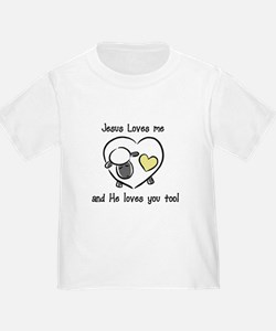 Jesus Loves Me Sheep Yellow T