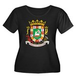 Puerto Rico Coat of Arms Women's Plus Size Scoop N