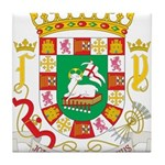 Puerto Rico Coat of Arms Tile Coaster