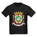 Puerto Rico Coat of Arms Kids Dark T-Shirt