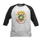 Puerto Rico Coat of Arms Kids Baseball Jersey