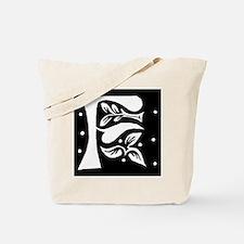 Art Nouveau Initial F Tote Bag
