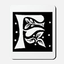 Art Nouveau Initial F Mousepad