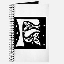 Art Nouveau Initial F Journal