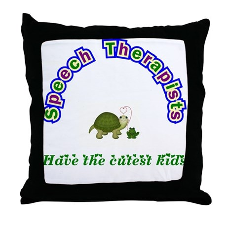 Speech Therapist Throw Pillow
