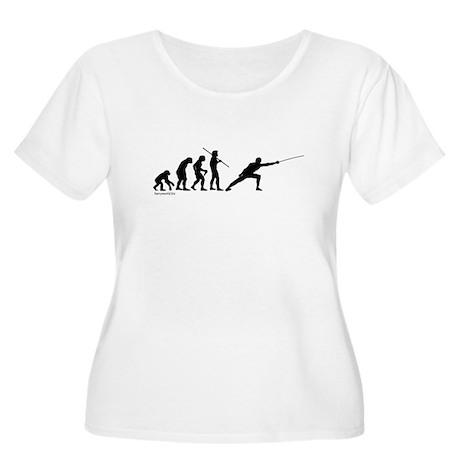 Fencing Evolution Women's Plus Size Scoop Neck T-S