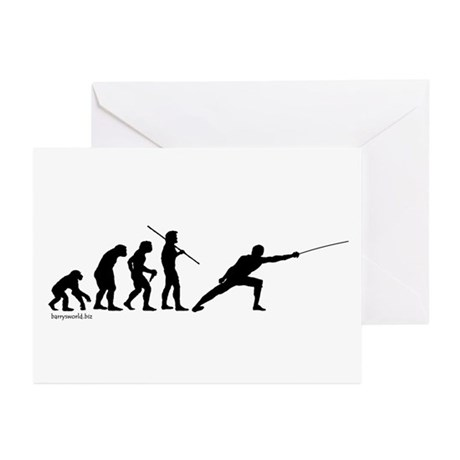 Fencing Evolution Greeting Cards (Pk of 20)