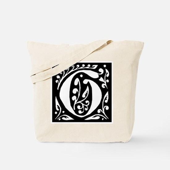 Art Nouveau Initial G Tote Bag