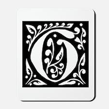 Art Nouveau Initial G Mousepad