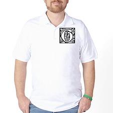 Art Nouveau Initial G T-Shirt