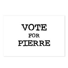 Vote for Pierre Postcards (Package of 8)