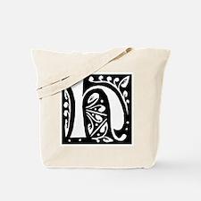 Art Nouveau Initial H Tote Bag