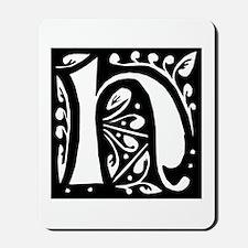 Art Nouveau Initial H Mousepad