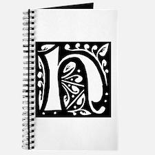 Art Nouveau Initial H Journal