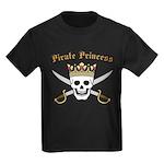 Pirate Princess Kids Dark T-Shirt