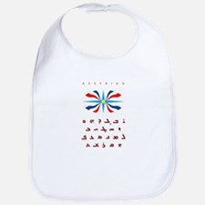 Assyrian Flag with Alphabet Bib