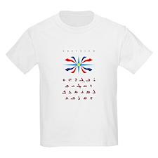 Assyrian Flag with Alphabet Kids T-Shirt