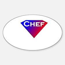 Super Chef Sticker (Oval)