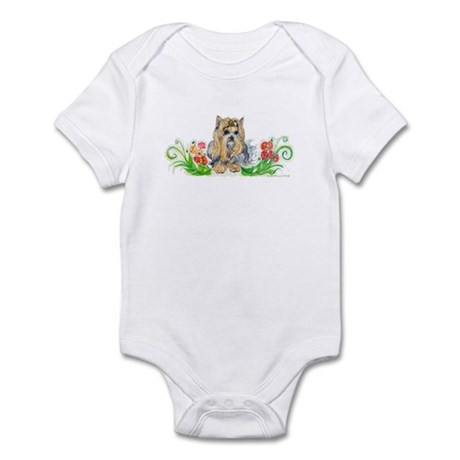 Pumpkin Yorkshire Terrier Infant Bodysuit