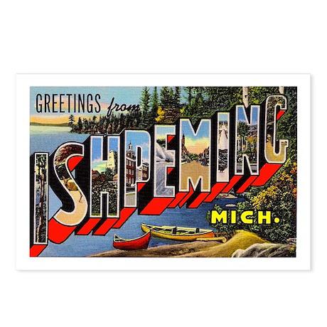 Ishpeming Michigan Greetings Postcards (Package of