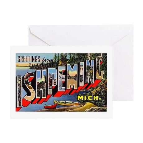 Ishpeming Michigan Greetings Greeting Card