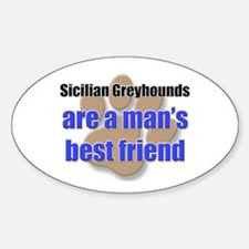 Sicilian Greyhounds man's best friend Decal