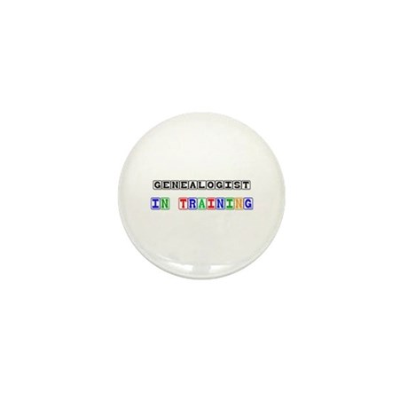Genealogist In Training Mini Button (10 pack)