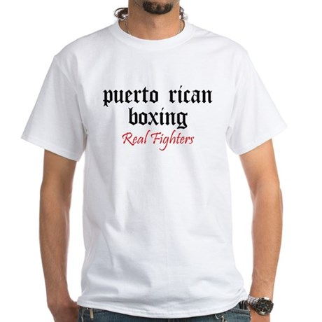 Puerto Rican Boxing White T-Shirt