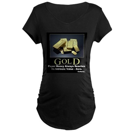 Gold Maternity Dark T-Shirt