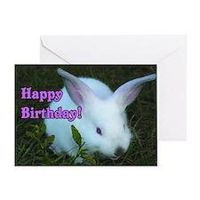 Happy Birthday Bunny Greeting Card