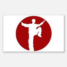 Taijiquan Logo Rectangle Decal