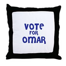 Vote for Omar Throw Pillow