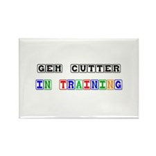 Gem Cutter In Training Rectangle Magnet