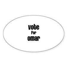 Vote for Omar Oval Decal