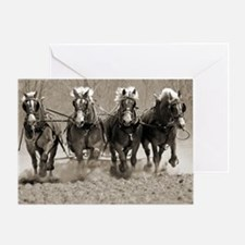 4 Horsepower Greeting Card