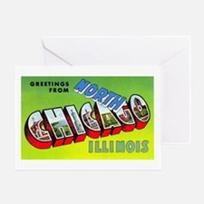 North Chicago Illinois Greetings Greeting Card