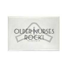 Older Nurses Rock! Rectangle Magnet