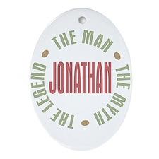 Jonathan Man Myth Legend Oval Ornament