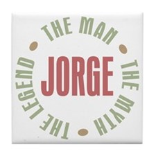 Jorge Man Myth Legend Tile Coaster