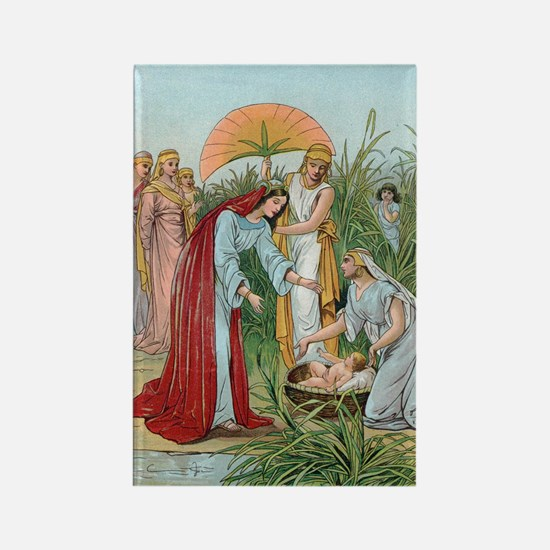 Moses in a basket Rectangle Magnet