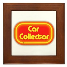 Car Collector (neon) Framed Tile