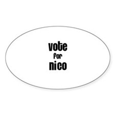 Vote for Nico Oval Decal