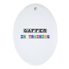 Gaffer In Training Oval Ornament