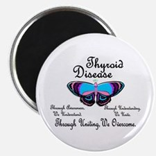 "Butterfly Awareness 1 (Thyroid Disease) 2.25"" Magn"