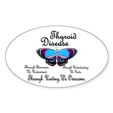 Butterfly Awareness 1 (Thyroid Disease) Decal