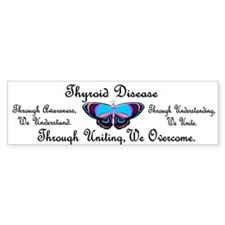 Butterfly Awareness 1 (Thyroid Disease) Bumper Sticker