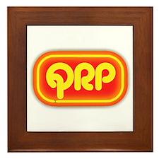 QRP (neon sign) Framed Tile