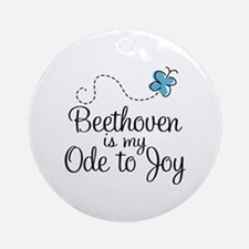 Beethoven Ode To Joy Ornament (Round)