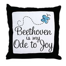 Beethoven Ode To Joy Throw Pillow
