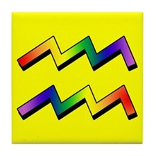 GLBT Aquarius y Tile Coaster